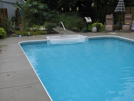 Steps And Benches For Vinyl Liner Inground Pools Edwards Pools
