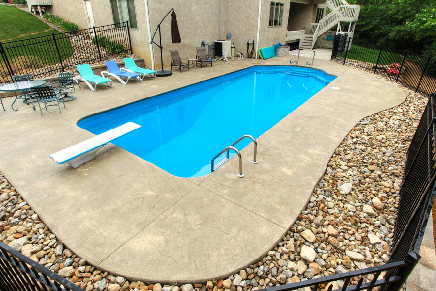 Gallery edwards pools inground and above ground pools for Fiberglass above ground pool